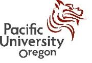 Pacific University Logo