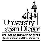 University of San Diego, department of Environmental & Ocean Sciences Logo