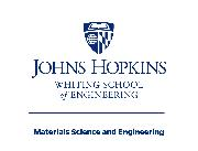 Johns Hopkins University: Whiting School of Engineering: Department of Materials Science and Engineering Logo