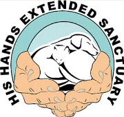 His Hands Extended Sanctuary Logo