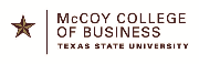 Texas State University McCoy College of Business Logo