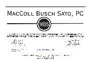 MacColl Busch Sato, PC Logo