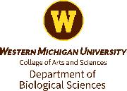The Department of Biological Sciences at Western Michigan University Logo