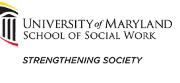 University of Maryland School of Social Work (UMSSW) Logo