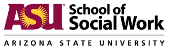 The School of Social Work in the Watts College of Public Service and Community Solutions at Arizona State University (ASU) Logo